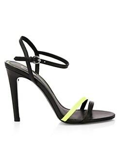 아쉬 샌들 ASH Glamster Leather Sandals,Black