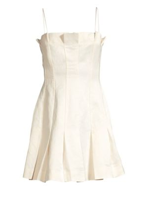 AMUR | Joy Linen-Blend Slip Dress | Goxip