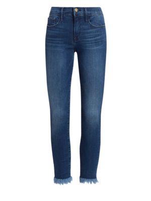 Le Skinny De Jeanne Raw Hem Cropped Jeans