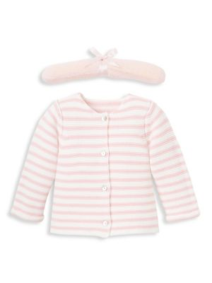 Baby Girl's Stripe Knit Cotton Sweater