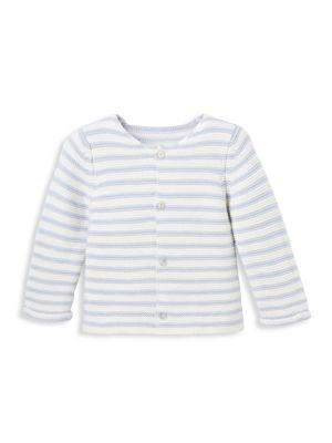 Baby Boy's Stripe Knit Cotton Sweater