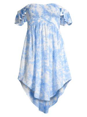 Hollie High-Low Printed Dress