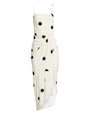 Cami Polka-Dot Silk-Blend Maxi Dress