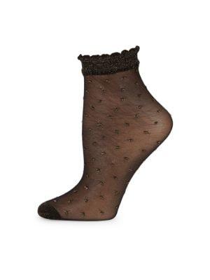 Keira Lurex Dot Ankle Socks