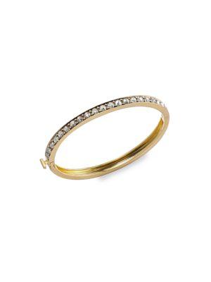 Eleni 18K Yellow Gold & Grey Diamond Eternity Bangle Bracelet