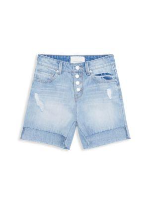Girl's Kristy High-Waist Denim Shorts