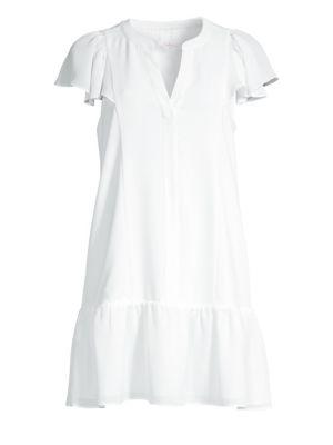Violet Ruffled Cotton Dress