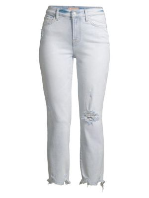Luxe Edie Distressed Cropped Jeans