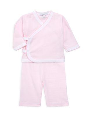 Baby Girl's 2-Piece Pima Cotton Top & Pants Set