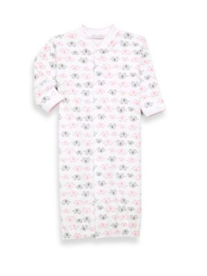 Baby Girl's Pima Cotton Elephant Converter Gown