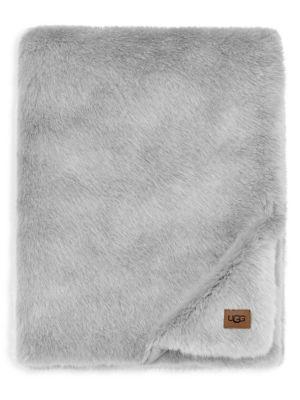 Shay Reversible Faux-Fur Throw