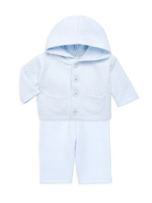 Baby Boy's 2-Piece Quilted Pima Cotton Top & Pants Set