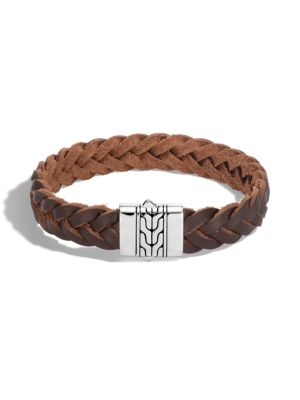 Classic Chain Silver & Leather Cord Bracelet