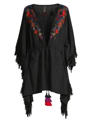 Camille Indochine Embroidered Beach Wrap