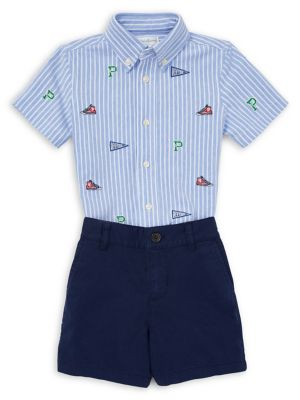 Baby Boy's 2-Piece Cotton Oxford Button-Down Shirt & Shorts Set