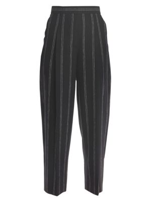 Malys Striped High-Rise Trousers