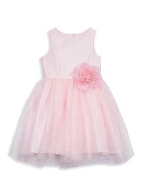 Baby's Little Girl's & Girl's Bow Fit & Flare Dress