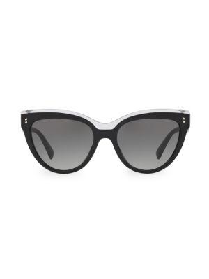 54MM Two-Tone Cat Eye Sunglasses