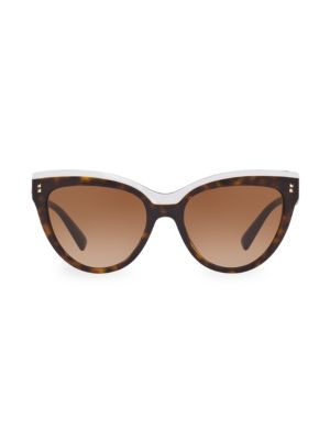 54MM Havana Cat Eye Sunglasses