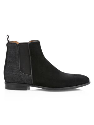 Adrian Mixed-Media Chelsea Boots
