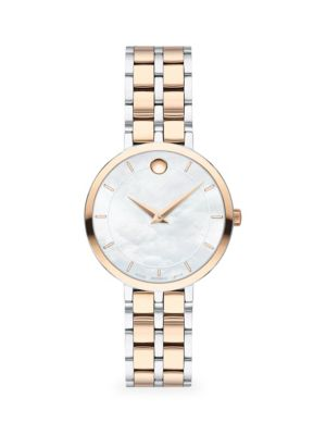 Kora Two-Tone Stainless Steel & Carnation PVD Bracelet Watch