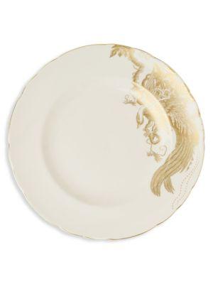 Gold Aves Bird Motif 22K Gold Dinner Plate