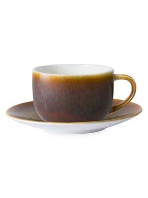 Art Glazed Flamed Caramel Tea Saucer