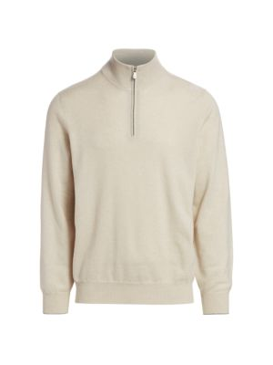 Cashmere Half Zip Sweater