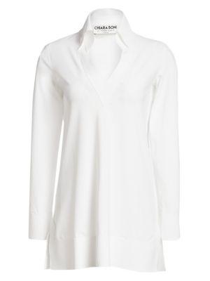 Parthea Collar V-Neck Tunic