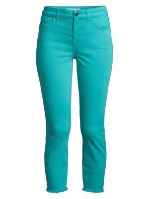 Frayed Hem Crop Skinny Jeans