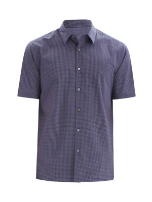 Irving Standard-Fit Diamond Print Short-Sleeve Shirt
