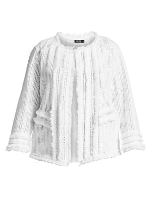 Fringed Trim Cotton Jacket