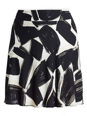 Nightfall Graphic Print A-Line Skirt