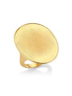 Lunaria 18K Yellow Gold Engraved Cocktail Ring