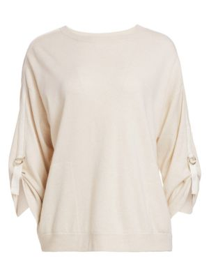 Tab Buckle Cashmere Sweater