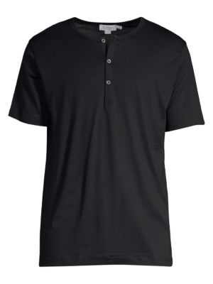 Short-Sleeve Cotton Henley