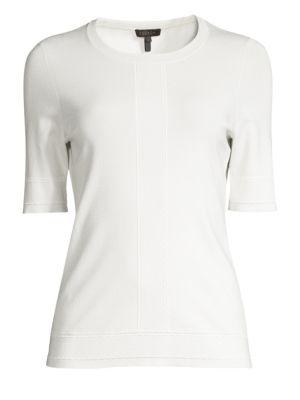 ESCADA   Sensial Jersey Stitched Tee   Goxip
