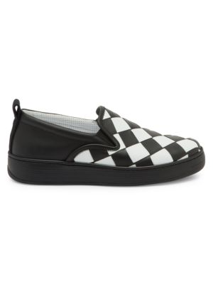 Checkerboard Leather Sneakers