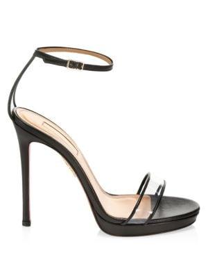 Minimalist PVC & Leather Platform Sandals