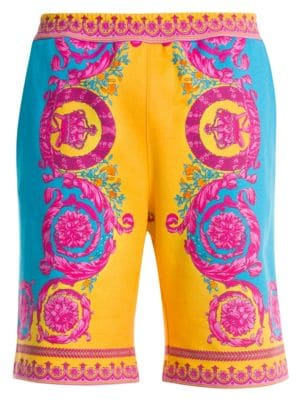 Baroque Cotton Shorts