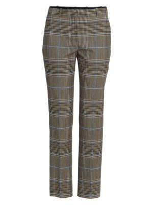 Straight-Leg Check Trousers