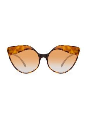 Oversized 59.5MM Cat Eye Sunglasses
