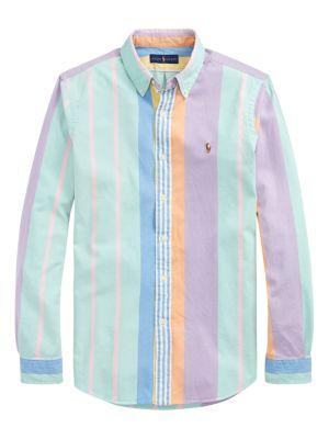Custom-Fit Vintage Stripe Oxford Shirt