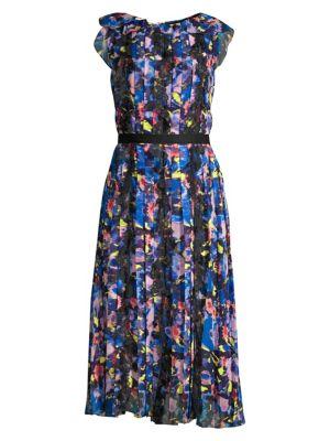 Printed Chiffon Day Dress
