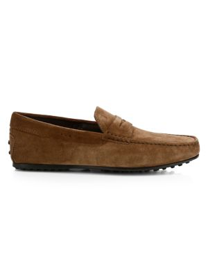 City Gommini Suede Mocassino Penny Loafers