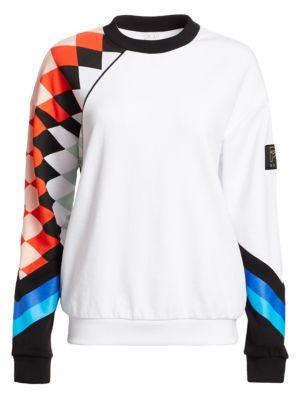 P.E NATION | Power Up Aspendos Multicolor Graphic Sweatshirt | Goxip