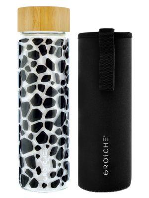 Venice 22.6 oz. Giraffe Print Glass Bottle