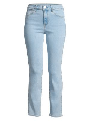 High-Rise Straight Authentic Cropped Jeans