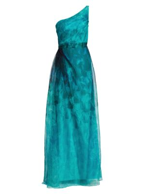 One-Shoulder Organza Gown