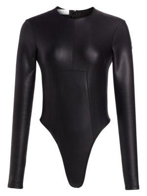 The Venus Vegan Leather Bodysuit